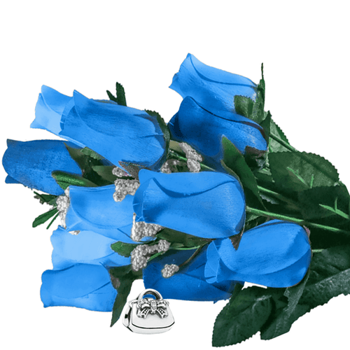 Baby Blue Bouquet | Charm Roses®