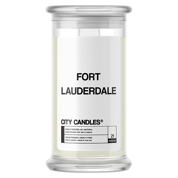 Fort Lauderdale City Candle