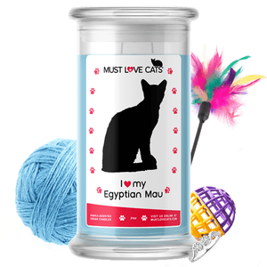 I Love My Egyptian Mau | Must Love Cats® Candle-Must Love Cats® Candle-The Official Website of Jewelry Candles - Find Jewelry In Candles!
