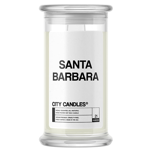 Santa Barbara City Candle