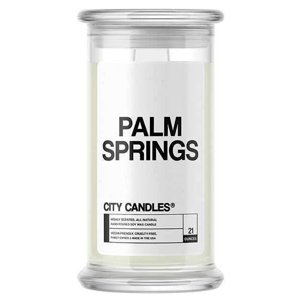 Palm Springs City Candle