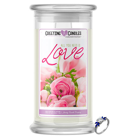 All You Need Is Love Jewelry Greeting Candles