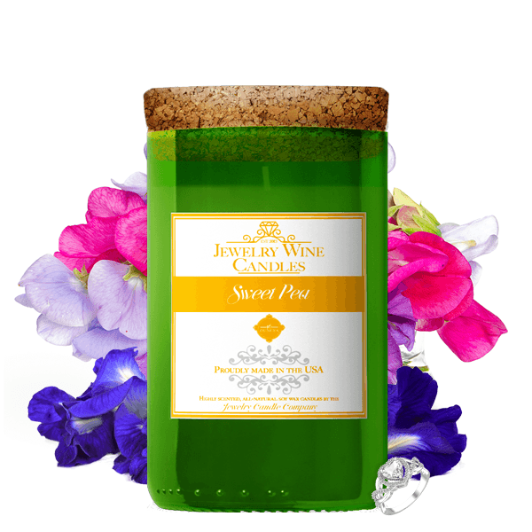 Sweet Pea | Jewelry Wine Candle®-Jewelry Wine Candles-The Official Website of Jewelry Candles - Find Jewelry In Candles!