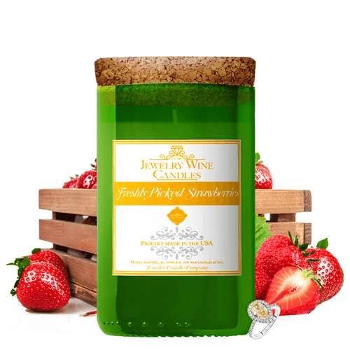Freshly Picked Strawberries | Jewelry Wine Candle®-Jewelry Wine Candles-The Official Website of Jewelry Candles - Find Jewelry In Candles!