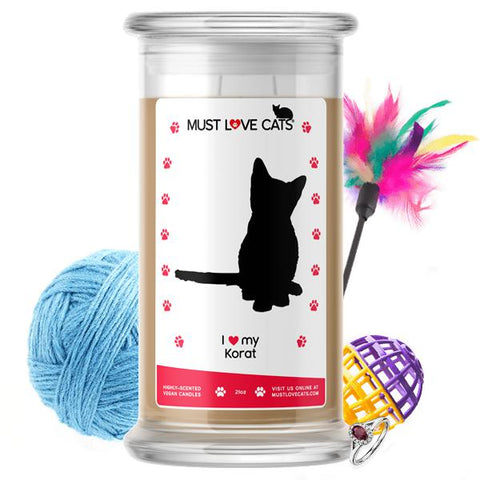I Love My Korat | Must Love Cats® Candle-Must Love Cats® Candle-The Official Website of Jewelry Candles - Find Jewelry In Candles!