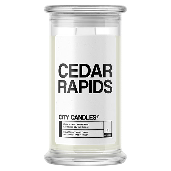Cedar Rapids City Candle