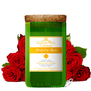 Fresh Cut Roses | Jewelry Wine Candle®-Jewelry Wine Candles-The Official Website of Jewelry Candles - Find Jewelry In Candles!