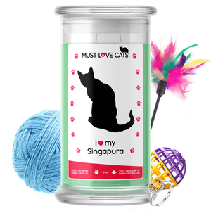 I Love My Singapura | Must Love Cats® Candle-Must Love Cats® Candle-The Official Website of Jewelry Candles - Find Jewelry In Candles!