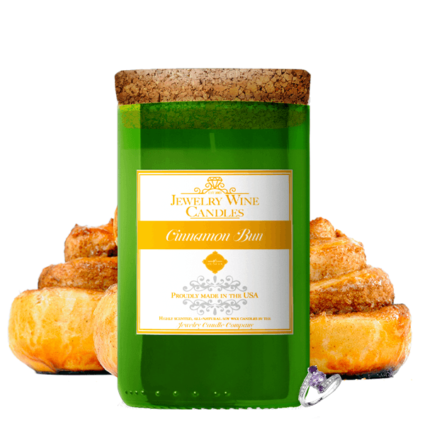 Cinnamon Bun | Jewelry Wine Candle®-Jewelry Wine Candles-The Official Website of Jewelry Candles - Find Jewelry In Candles!