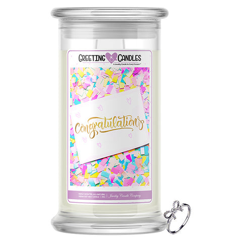 Congratulations! Jewelry Greeting Candles
