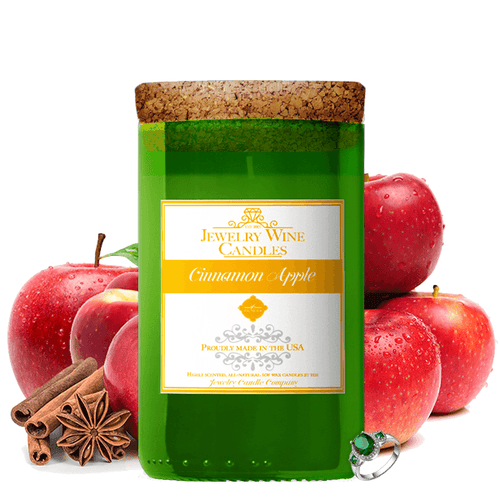 Cinnamon Apple | Jewelry Wine Candle®-Jewelry Wine Candles-The Official Website of Jewelry Candles - Find Jewelry In Candles!