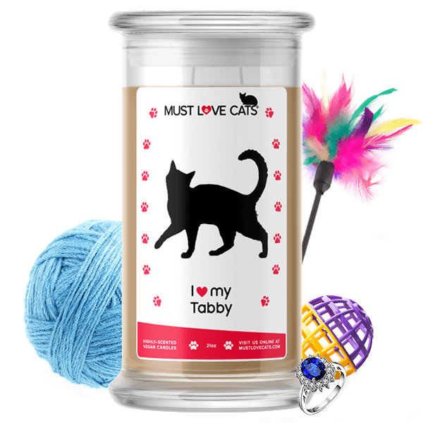 I Love My Tabby | Must Love Cats® Candle-Must Love Cats® Candle-The Official Website of Jewelry Candles - Find Jewelry In Candles!