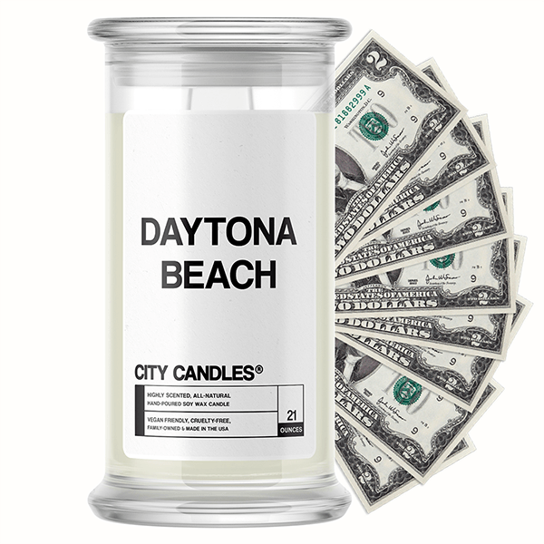 Daytona Beach City Cash Candle
