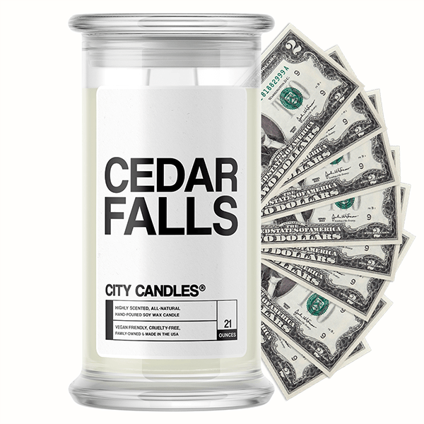 Cedar Falls City Cash Candle
