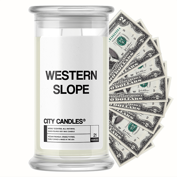 Western Slope City Cash Candle