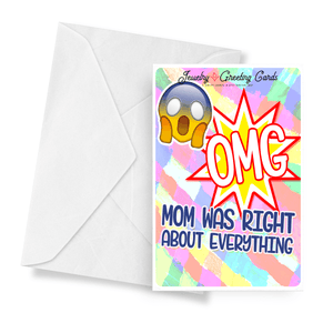 Omg! Mom Was Right About Everything! | Mother's Day Jewelry Greeting Cards®-Jewelry Greeting Cards-The Official Website of Jewelry Candles - Find Jewelry In Candles!