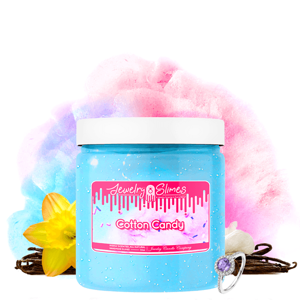 Cotton Candy | Jewelry Slime®-Jewelry Slime | A Jewelry Surprise In Every Jar of Slime-The Official Website of Jewelry Candles - Find Jewelry In Candles!