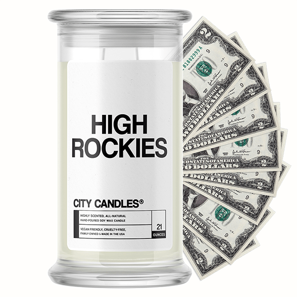 High Rockies City Cash Candle