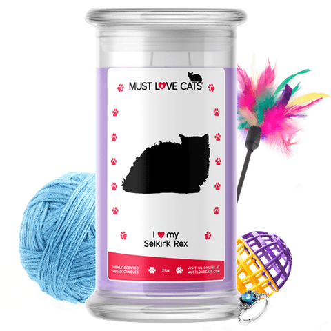 I Love My Selkirk Rex | Must Love Cats® Candle-Must Love Cats® Candle-The Official Website of Jewelry Candles - Find Jewelry In Candles!