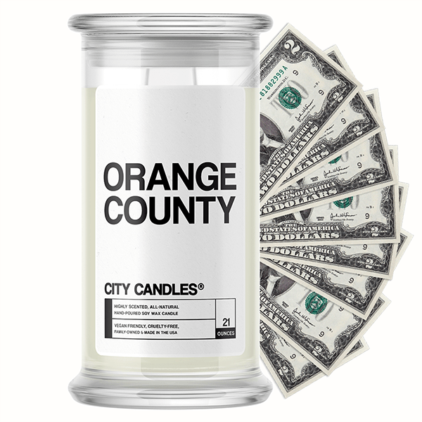Orange County City Cash Candle