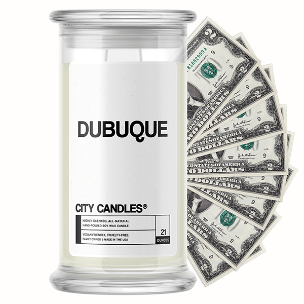 Dubuque City Cash Candle