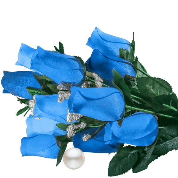 Baby Blue Bouquet Pearl Roses