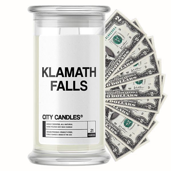 Klamath Falls City Cash Candle