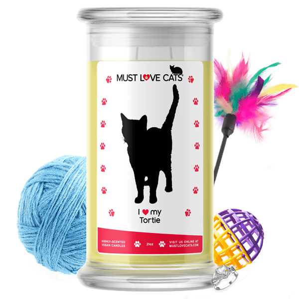 I Love My Tortie | Must Love Cats® Candle-Must Love Cats® Candle-The Official Website of Jewelry Candles - Find Jewelry In Candles!