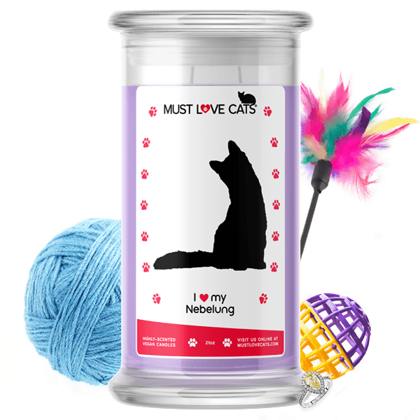 I Love My Nebelung | Must Love Cats® Candle-Must Love Cats® Candle-The Official Website of Jewelry Candles - Find Jewelry In Candles!