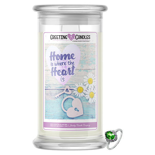 Home Is Where The Heart Is | Jewelry Greeting Candles