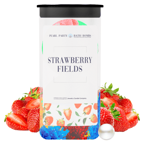 Strawberry Fields Pearl Party Bath Bombs Twin Pack