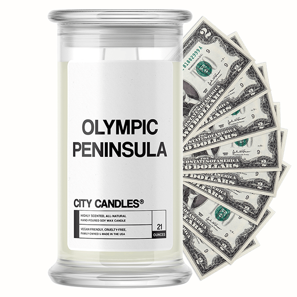 Olympic Peninsula City Cash Candle