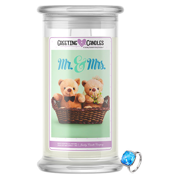Mr. & Mrs. Jewelry Greeting Candle