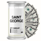 Saint George City Cash Candle