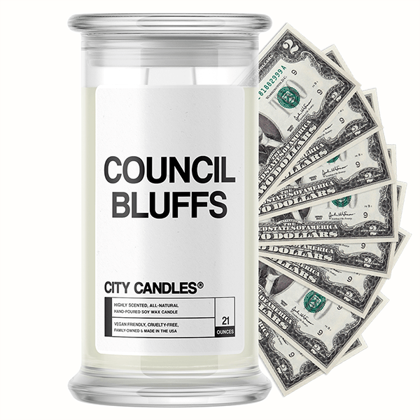 Council Bluffs City Cash Candle
