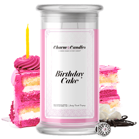 Birthday Cake | Charm Candle®-Charm Candles®-The Official Website of Jewelry Candles - Find Jewelry In Candles!