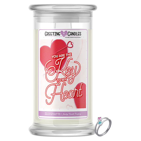 You Are The Key To My Heart! Jewelry Greeting Candle