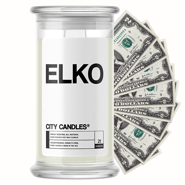 Elko City Cash Candle