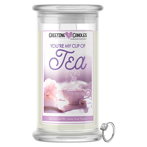 You're My Cup Of Tea! Jewelry Greeting Candles