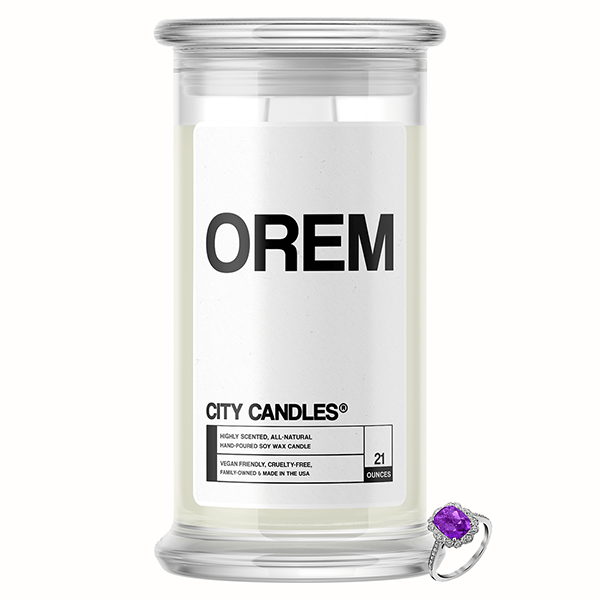 Orem City Jewelry Candle