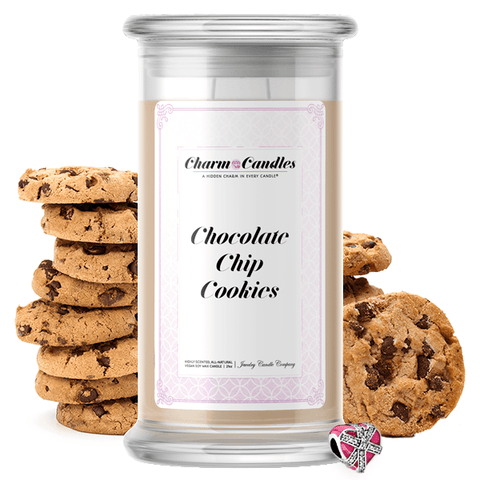 Chocolate Chip Cookies | Charm Candle®-Charm Candles®-The Official Website of Jewelry Candles - Find Jewelry In Candles!