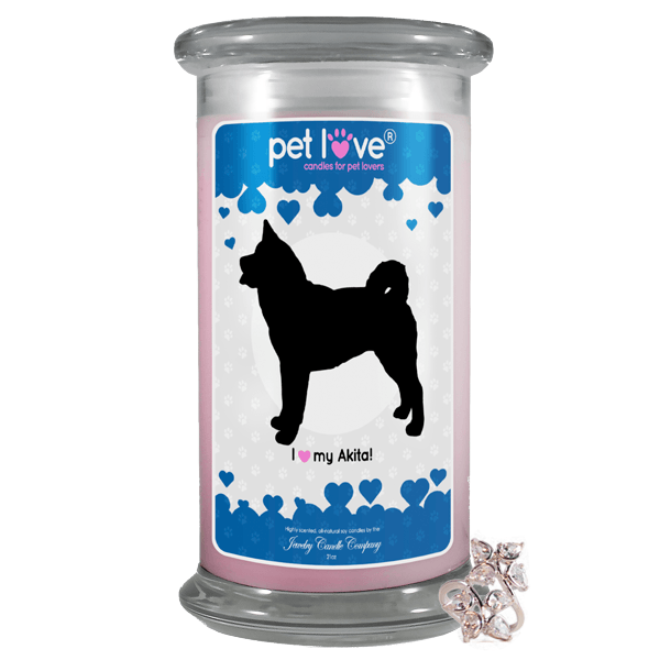 I Love My Akita! | Pet Love Candle®-Pet Love®-The Official Website of Jewelry Candles - Find Jewelry In Candles!