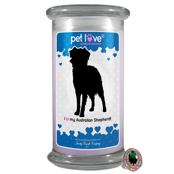 I Love My Australian Shepherd! | Pet Love Candle®-Pet Love®-The Official Website of Jewelry Candles - Find Jewelry In Candles!