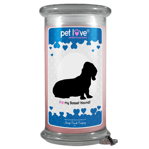I love my Basset Hound! | Pet Love Candle®-Pet Love®-The Official Website of Jewelry Candles - Find Jewelry In Candles!