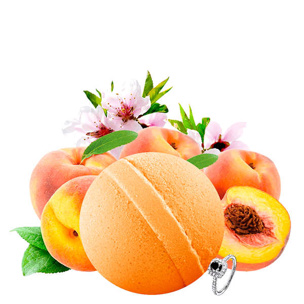 Just Peachy | Single Jewelry Bath Bomb®