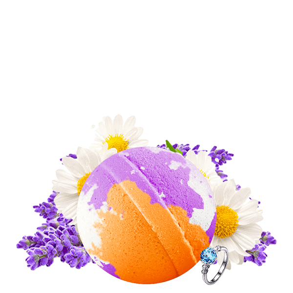 Lavender & Chamomile | Single Jewelry Bath Bomb®