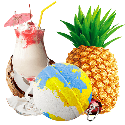 If You Like Piña Coladas! Ring Bath Bomb