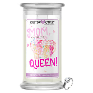 Mom You Are The Queen! Jewelry Greeting Candle