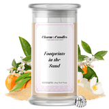 Footprints In The Sand | Charm Candle®-Charm Candles®-The Official Website of Jewelry Candles - Find Jewelry In Candles!