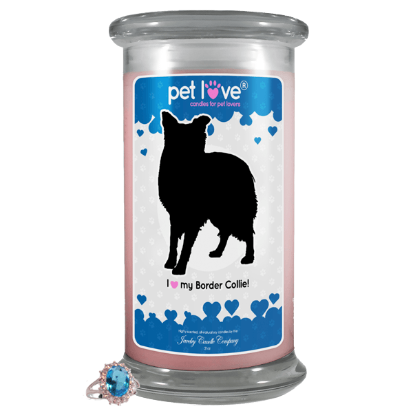 I Love My Border Collie! | Pet Love Candle®-Pet Love®-The Official Website of Jewelry Candles - Find Jewelry In Candles!